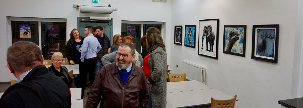 My debut solo exhibition - Canvas Creatures