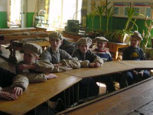 Kids at Berezna learning difficulties school