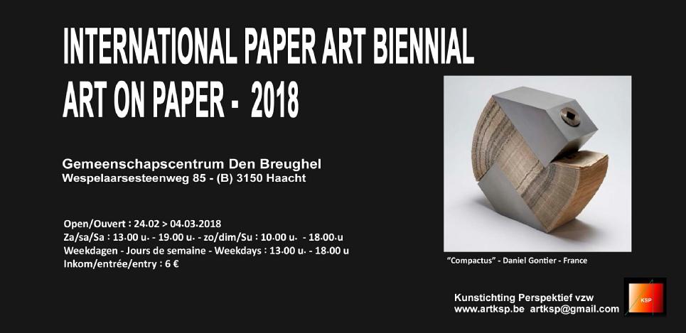 Paper Art Biennale 2018 d'Haacht en Belgique
