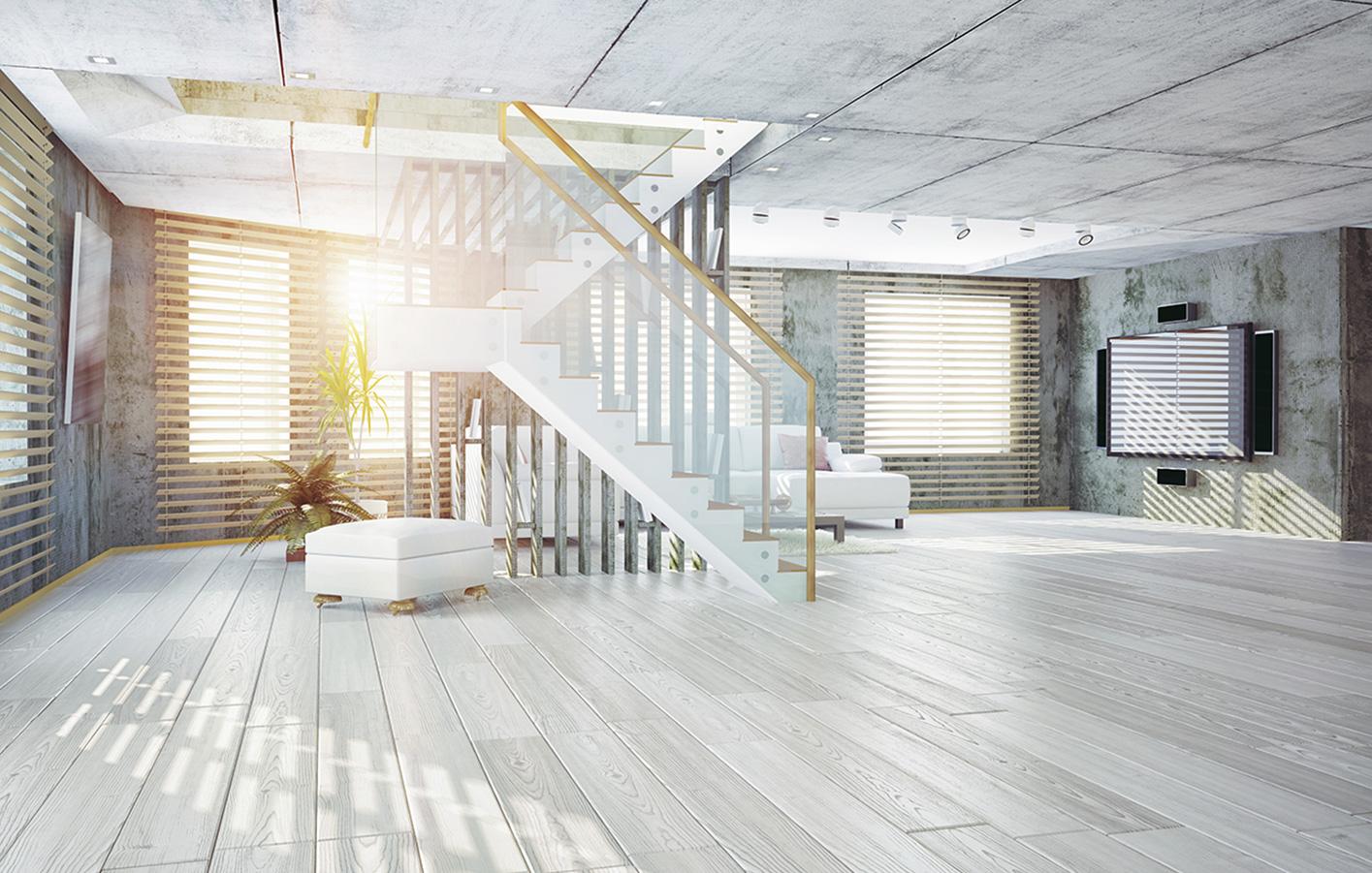 Wohnzimmer Grau Laminat