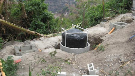 Completed Biodigester at Don Ramiro's