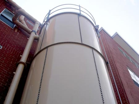 Rainwater catchment at Langston High