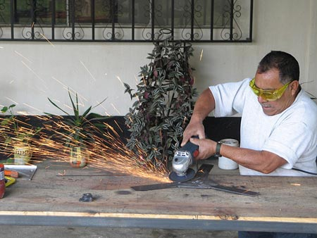 Don Prudencio, letting sparks fly.