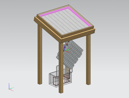 CAD drawing of solar fridge design