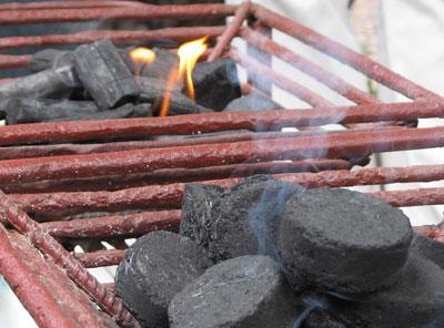Sugar cane charcoal