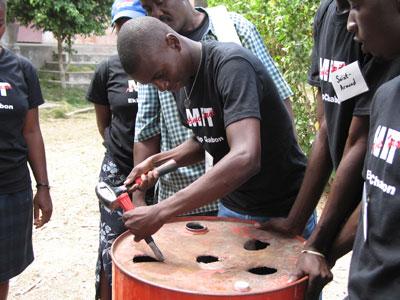 Making the kiln