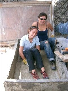 Alissa and Corrina in a Box