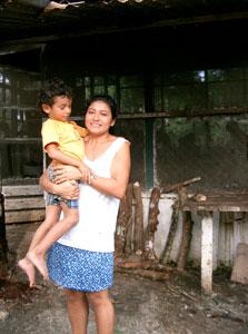 Brandon and his aunt Beatriz at Casa Guatemala