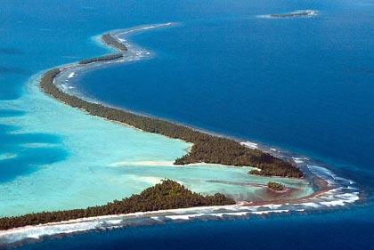 Tuvalu's main island of Funafati