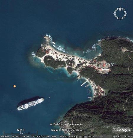 Google Earth, Labadie Beach