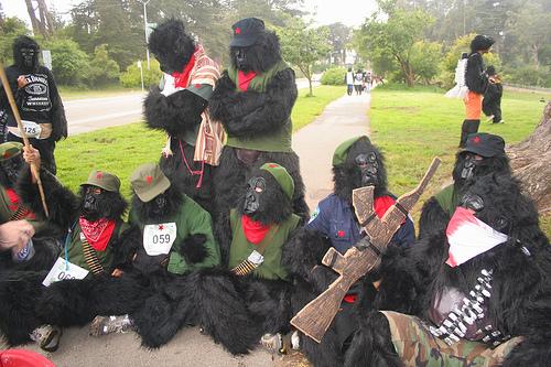 Great Gorilla Run: Guerrilla protest