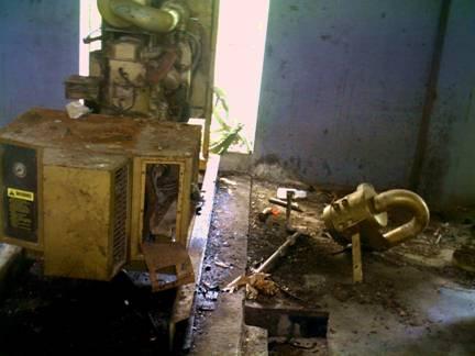 Broken down generator