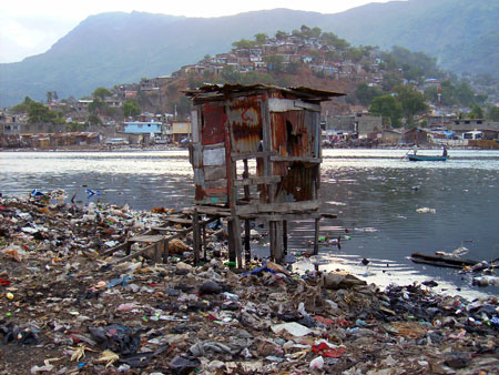 Latrine in the Shada area of Cap Haitien