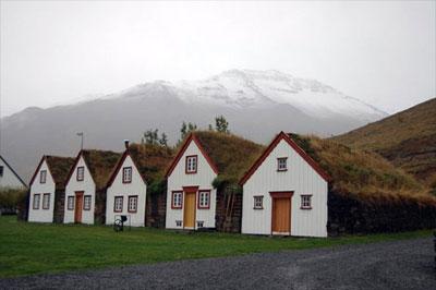 Grenivik Houses in Iceland