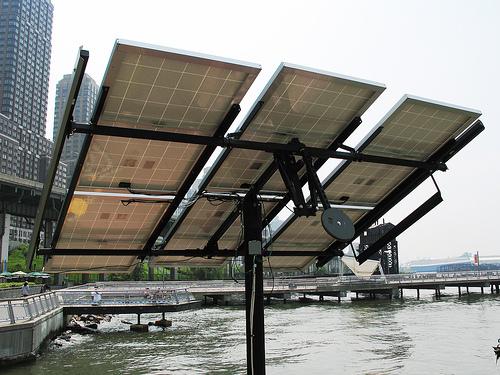 Science Barge: Solar array (underside)