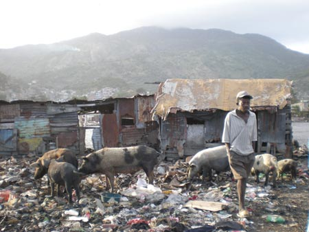 The dumping area in Shada