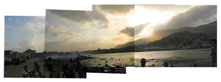 Panoramic view of area by the shore in Shada