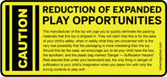 Caution: Reduction of Expanded play opportunities