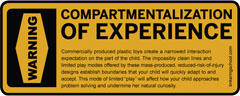 Warning: Compartmentalization of Experience