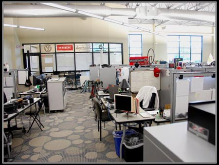 Trek's product development area
