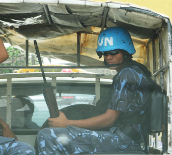 UN Soldier in Cap-Haitien