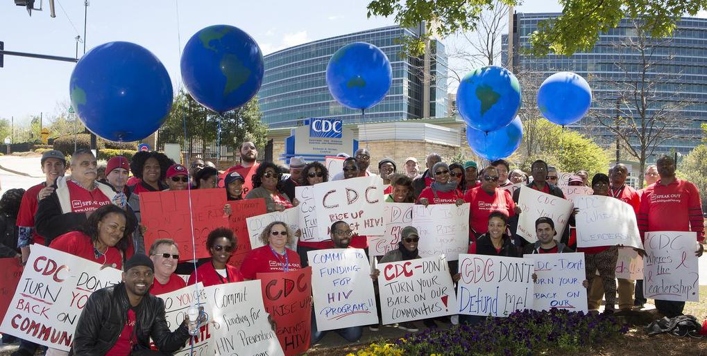 ATLANTA: AHF, HIV Activists Protest CDC Defunding of Local HIV Service Programs [PHOTOS]