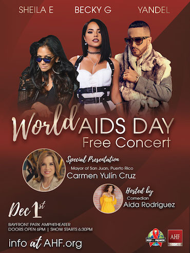 Becky G., Yandel & Sheila E. Wow Crowd at Miami World AIDS Day Concert With San Juan Mayor Carmen Yulin Cruz