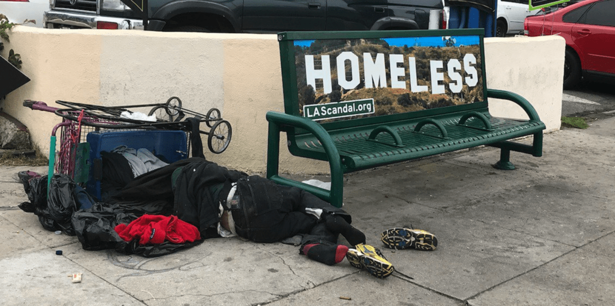 LA Times' 'Homeless' Stickers Call for Urgent City Action by the Mayor