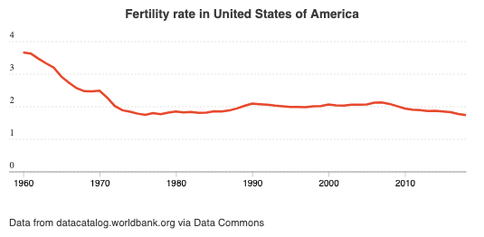fertility rate in united states of america