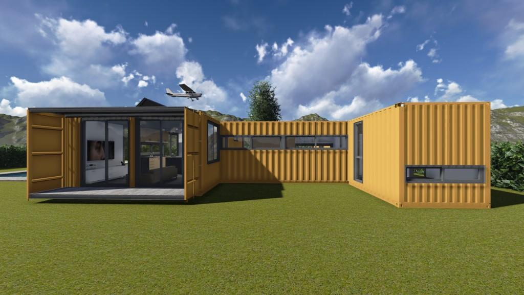 viviendas hechas con contenedores martimos reciclados