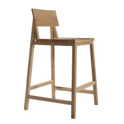 Stool Chair For Kitchen Counter Parsons Slipcover Pattern Ethnicraft Oak N3 Without Amrest