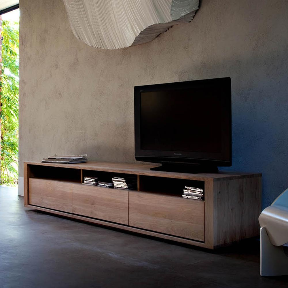 Ethnicraft Shadow Oak Tv Unit Solid Wood Furniture