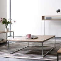 Ethnicraft Thin oak coffee table | solid wood furniture