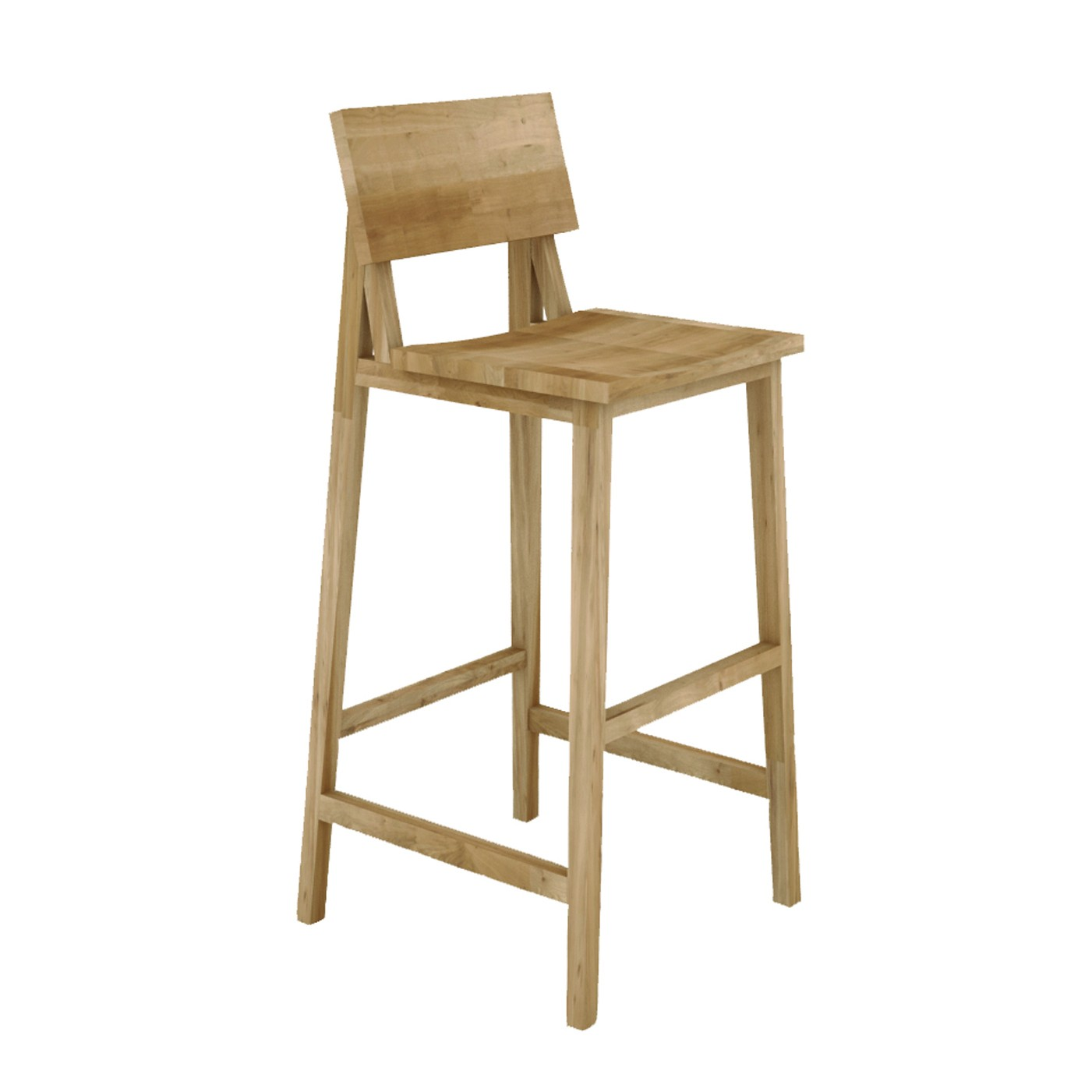 counter high chairs kids hair cutting ethnicraft oak n4 kitchen stool without amrest