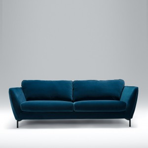 contemporary fabric sofas leather sofa living room design modern shop aif london angel 3 seater