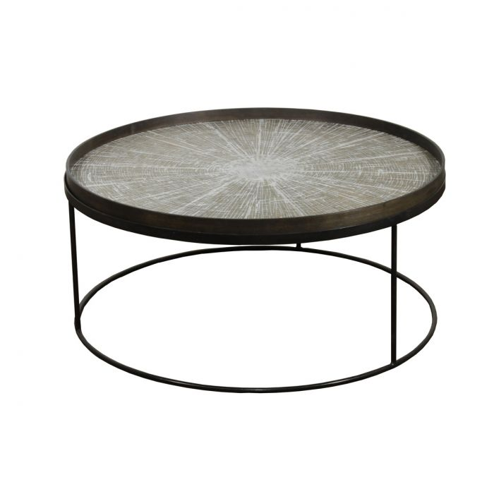 notre monde round tray table extra low