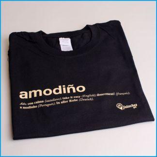 camiseta amodiño negra