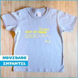 NOVIDADE camiseta infantil Toxiño