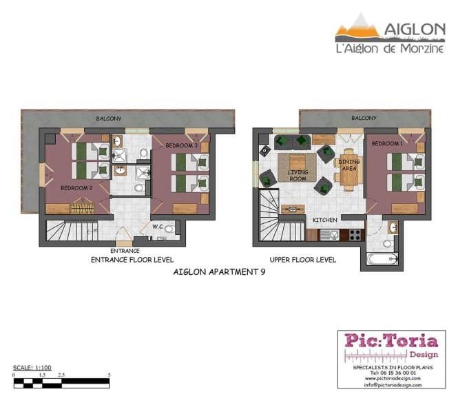 Morzine 3 Bedroom Apartment Self Catered Aiglon