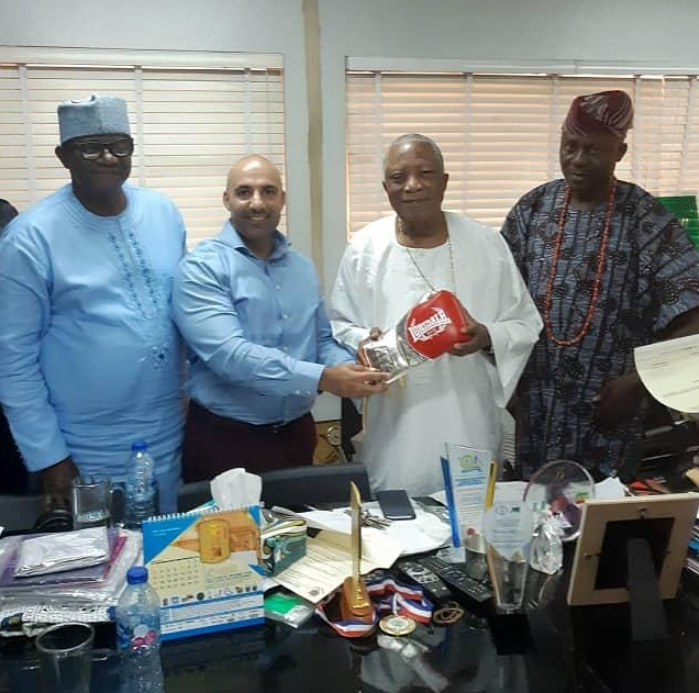 Baba Ijebu Pledges Support For Larry Ekundayo With Glove -