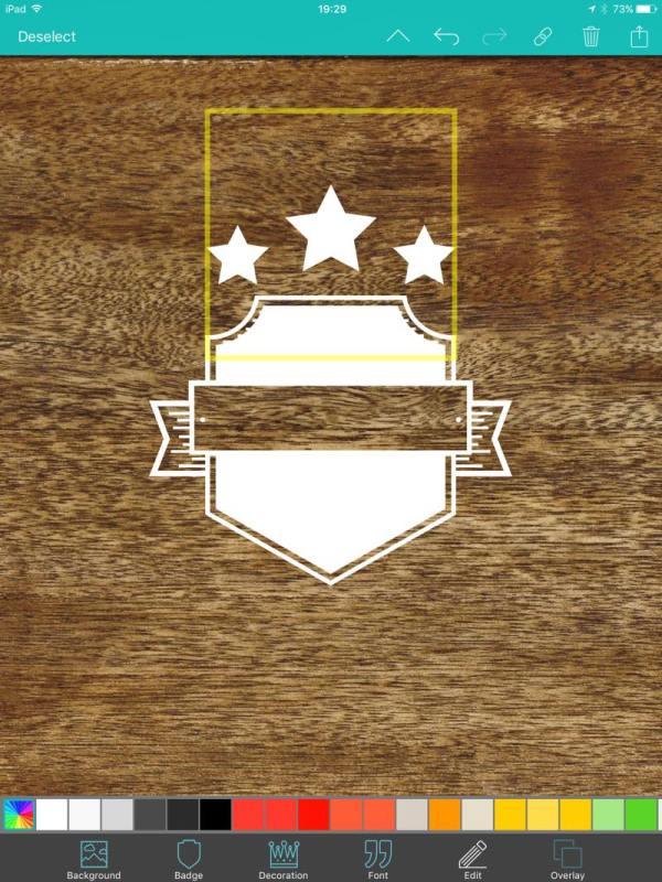 ヴィンテージ風ロゴを作成するアプリ vintage design
