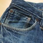 ジーンズのバックポケットの色落ち