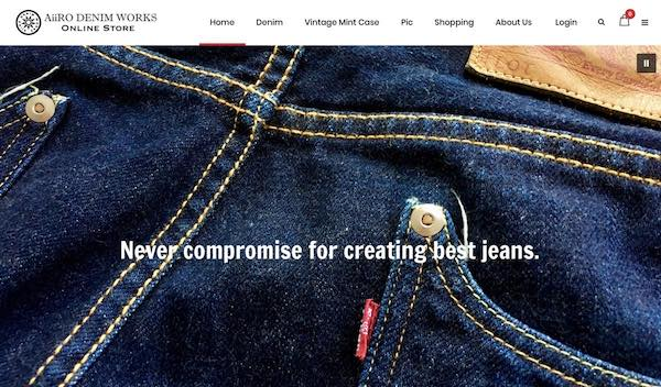 AiiRO DENIM WORKS online shop