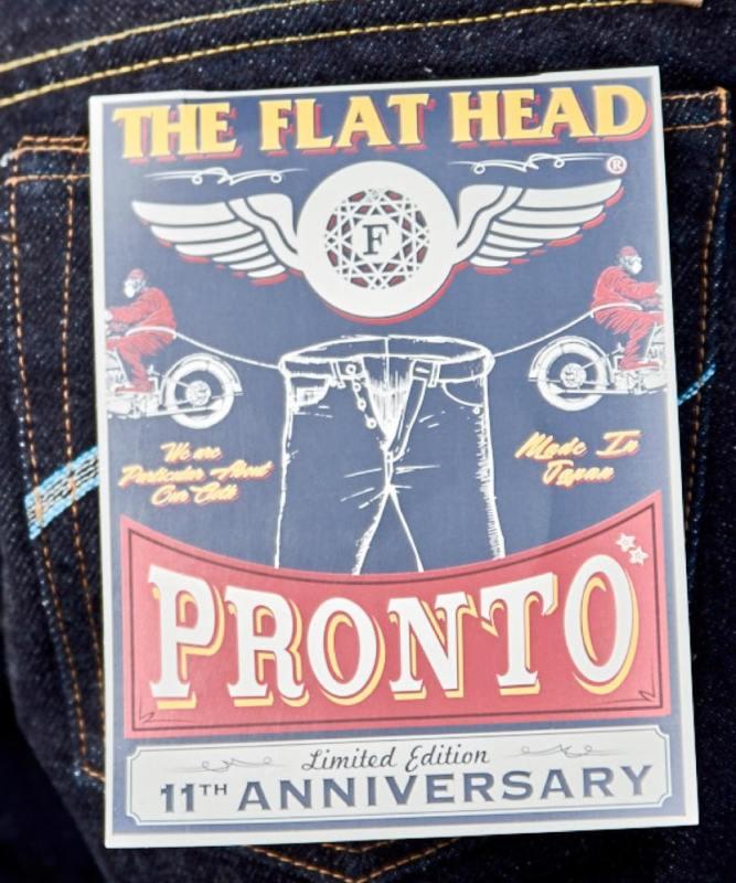 フラットヘッド×PRONTO DENIM11周年記念コラボジーンズ(PFH11ANN)