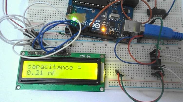 how to select resistance for Arduino capacitance meter