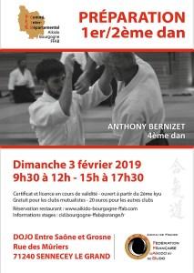 Stage Prépa 1er/2ème dan le 3 février à Sennecey-Le-Grand