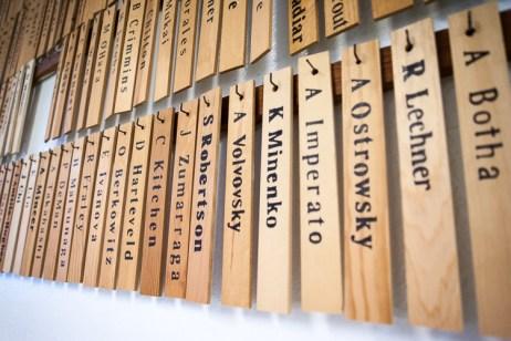 Deshi's names at the dojo
