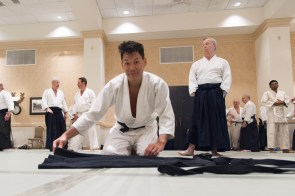 Folding the Hakama