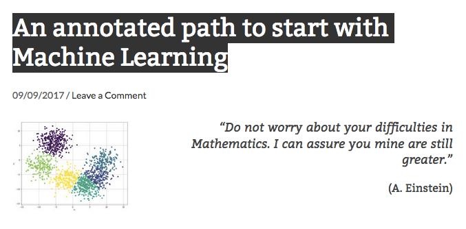 Machine Learning Path