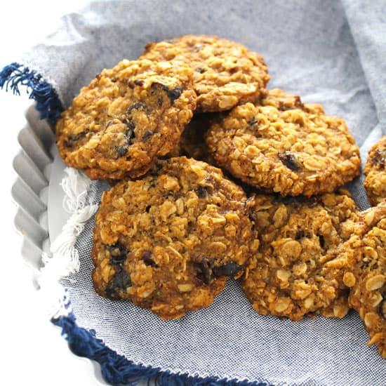 Vegan Dairy-Free Egg-Free Oatmeal Cookies